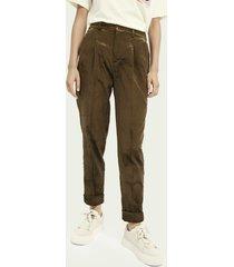 scotch & soda high-rise cotton-blend corduroy trousers