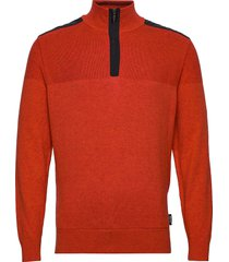 mens dover windstop pullover sweat-shirt trui bruin abacus