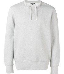 ron dorff drawstring neck sweatshirt - grey