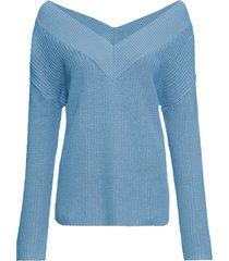 maglione con spalle scoperte (blu) - bodyflirt
