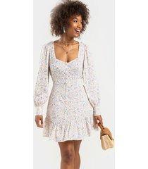 antoinette ditsy floral mini dress - white