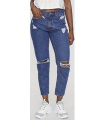 jeans mom i azul oscuro  corona