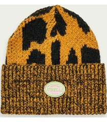 scotch & soda leopard print wool-blend beanie