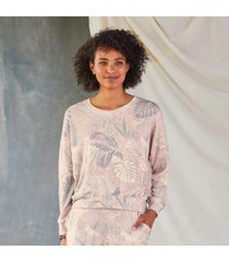 sundance catalog women's palms cozy sweater in rosebud xs