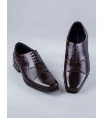 zapato formal cordones texturas 67205