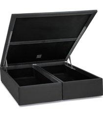 base cama box baú camurça cinza queen 158x198x39 ortobom - tricae