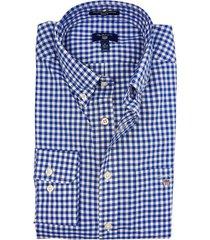 gant overhemd blauw gingham regular fit