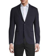 boss hugo boss men's norwin slim-fit blazer - blue - size 36 r