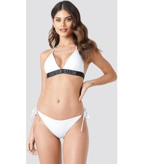 calvin klein cheeky string side tie bikini - white