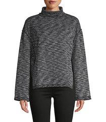 sunny days textured knit turtleneck sweater