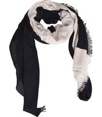 calvin klein logo print scarf