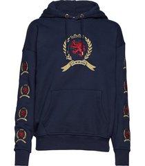 tjw crest hoodie w28 hoodie trui blauw tommy jeans