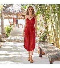 sundance women's seafront stroll dress in teal large
