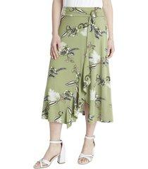 falda larga verde lorenzo di pontti