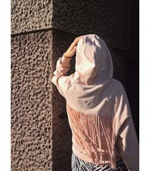 bawełniana bluza lotos z frędzlami, vada