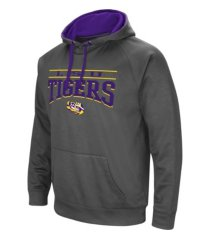 colosseum lsu tigers men's poly performance hooded sweatshirt