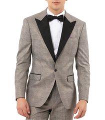 tallia men's slim-fit valhalla plaid tuxedo jacket