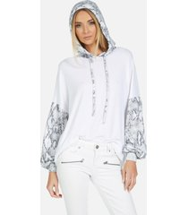 trenton le grey snake hoodie - white/grey snake l