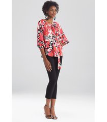 natori jaguar peasant blouse, women's, size s