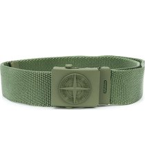 stone island junior canvas utility tape belt - green