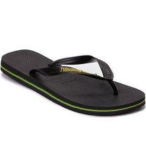 brasil logo flip flop shoes summer shoes flip flops svart havaianas