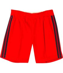 gucci red sport shorts with side bands