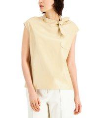 alfani tie-neck top, created for macy's