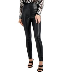 guess mirin corset faux-leather leggings