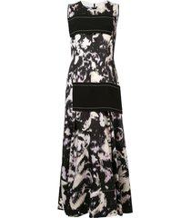 3.1 phillip lim abstract daisy side panel dress - black