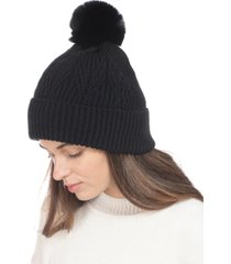 inc texture beanie with 2 poms in box, created for macy's
