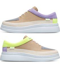 camper twins, sneakers mujer, beige/amarillo/violeta, talla 42 (eu), k200866-010
