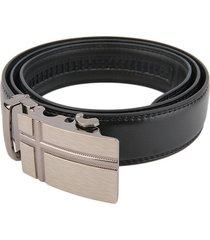 cinturon hombre lujo hebilla automatica # 2 - color negro