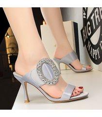 zapatos puntiagudos de tacón alto para mujeres sandalias