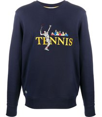 lacoste tennis loose fit sweater - blue