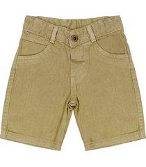 shorts look jeans sarja caqui - marrom - menino - dafiti