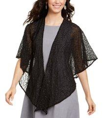 cejon squiggle-sequins draped shawl