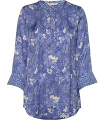 pretty printed short dress kort klänning blå odd molly