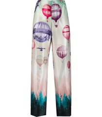 f.r.s for restless sleepers balloon-print high-waisted trousers -