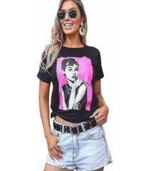 camiseta d bell feminina - feminino