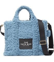 marc jacobs the traveller teddy tote bag - blue