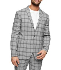 men's topman check slim fit suit blazer