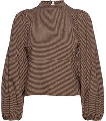 harriet blouse 11238 blouse lange mouwen bruin samsøe samsøe