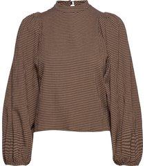 harriet blouse 11238 blouse lange mouwen bruin samsøe & samsøe