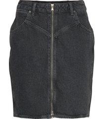 high zip skirt black st kort kjol svart wrangler