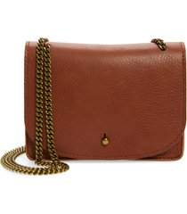 women's madewell leather crossbody wallet - brown