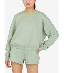 hippie rose juniors' long-sleeve control-hem sweatshirt