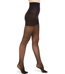 donna karan dot-mesh compression shaping tights