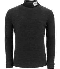 raf simons turtleneck sweater with patches