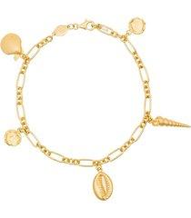 anni lu summer treasure bracelet - gold