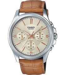 reloj casio kcasmtp-1375l-9a-marrón